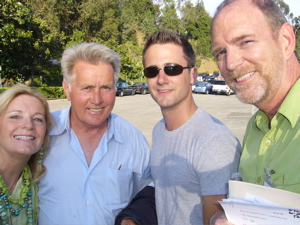 Tim and Judy and Nephew Nick with Martin Sheen